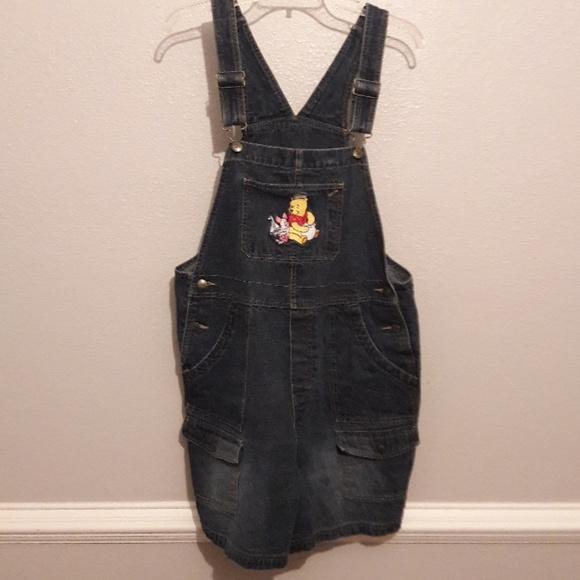 189c62b89d4 Disney Denim - Disney Winnie the Pooh denim overall shorts size L